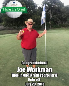 Joe Workman Hole In One