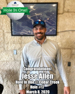 Jesse Allen Hole In One
