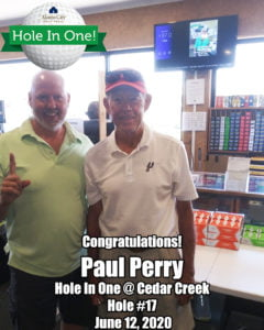 Paul Perry Hole In One