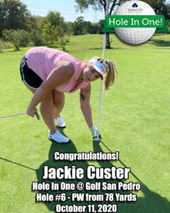Jackie Custer Hole in One
