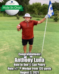 Anthony Luna Hole In One